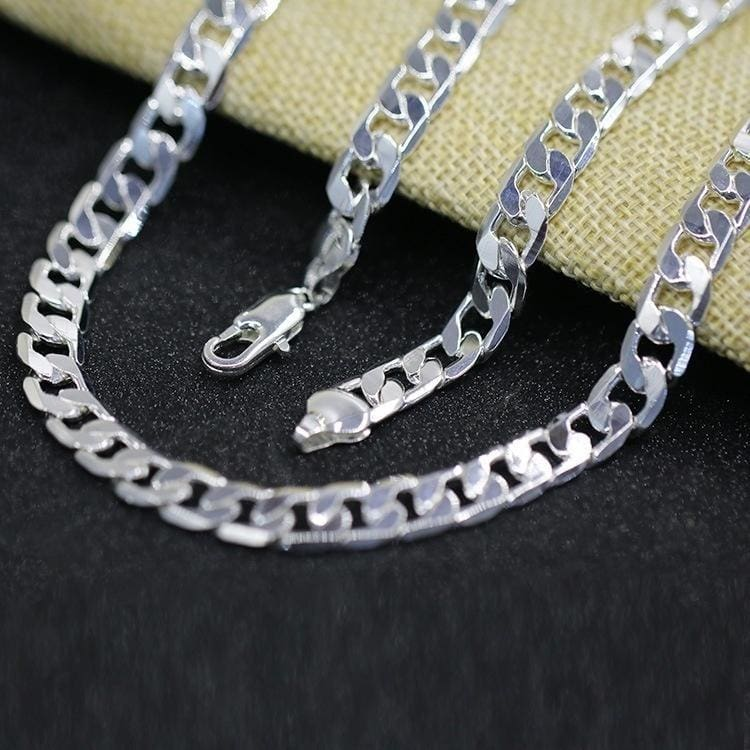 Men /& Women Fashion 925 Sterling Silver Necklace Chain Jewelry FREE SHIPPING!