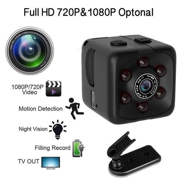 Mini Hidden Spy Camera Video Recorder With Night Vision Motion Detection HD SQ11