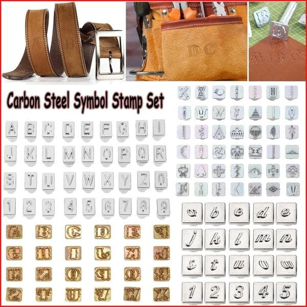 Steel Stamp Number Letter Alphabet Emboss Punch Set Leather Craft Punch Tool