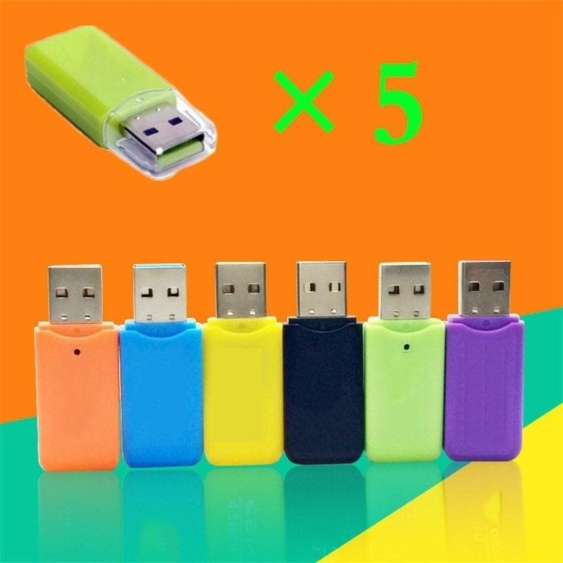 Fashion Unique New All-in-1 USB 2.0 Multi Memory Card Reader Adapter  for TF SD
