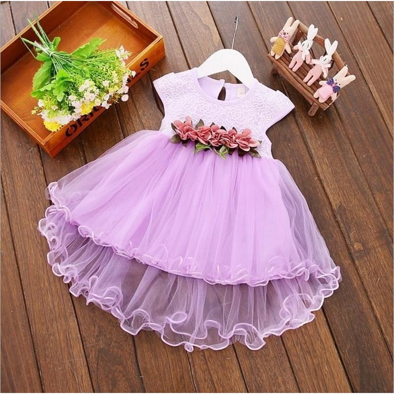 Perfect Toddler Infant Baby Girl Long Sleeve Tutu Dress Princess Floral Dresses