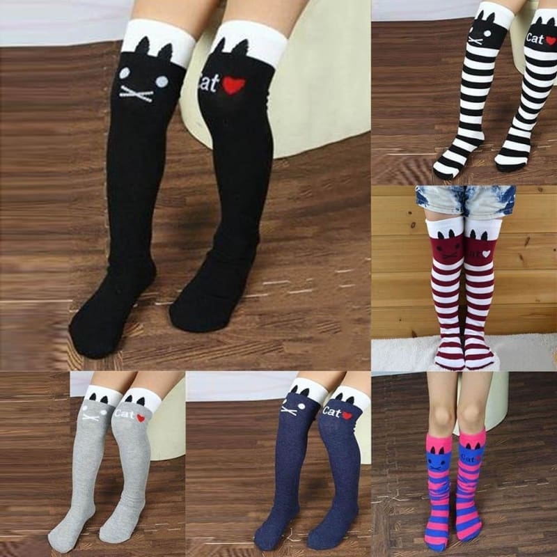Baby Girl Toddler Knee High Long Socks Soft Warm Cotton Lace Tights Stockings