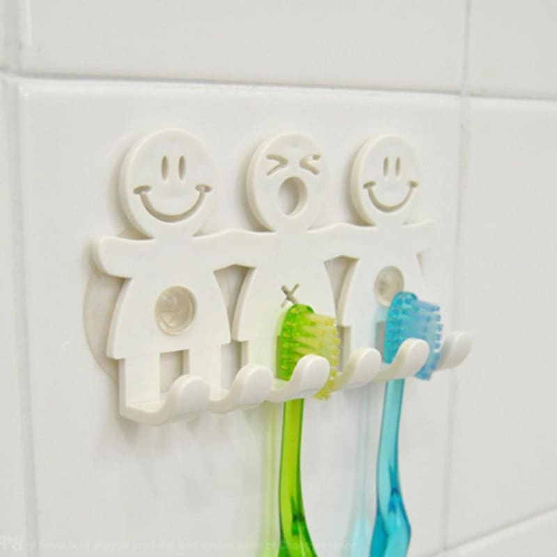 1pc Dust Proof Toothbrush Holder Suction Cup Sucker Hooks Teeth Brush Rack
