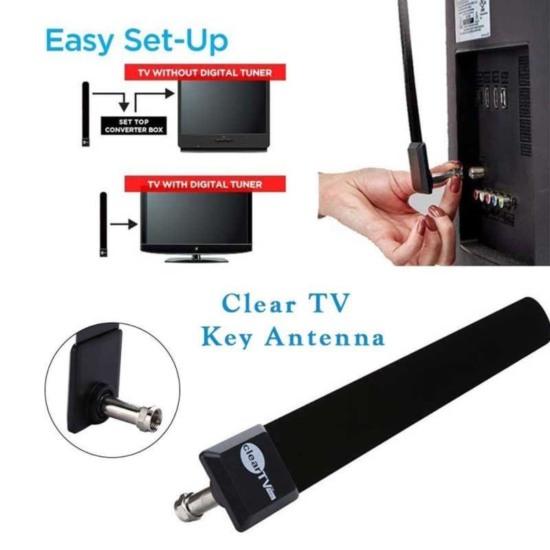 Clear TV Key HDTV FREE TV Digital Indoor Antenna Ditch Cable Signal Intensifier