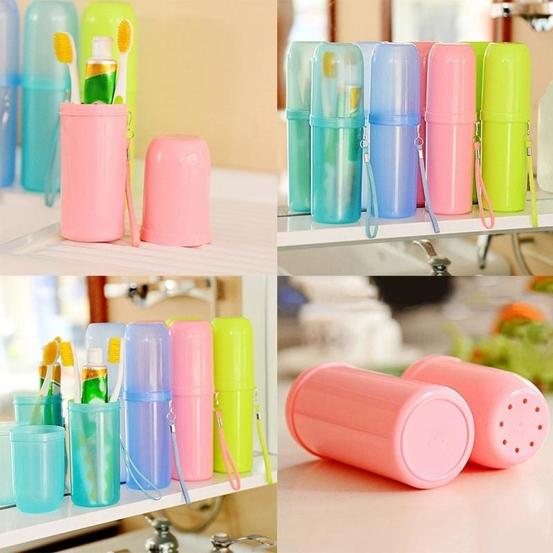 Toothbrush Holder Safety Plastic Case Box Cup /& Toothbrush Rack Useful