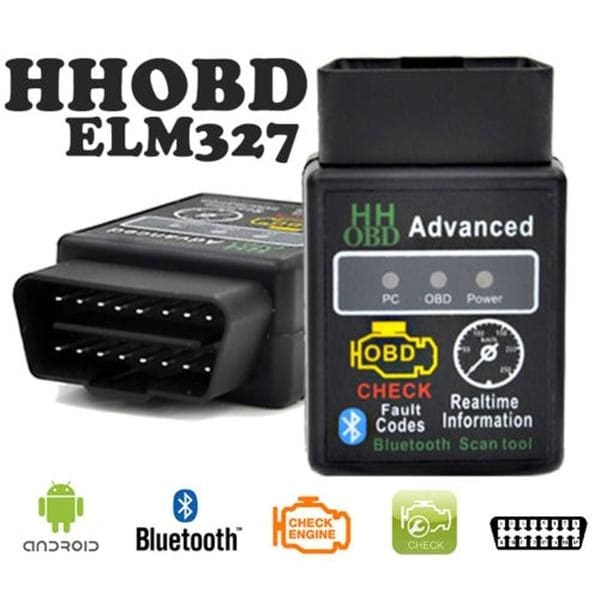 ELM327 HH OBD2 Bluetooth Car Scanner For Android Torque Auto Diagnostic Tool US