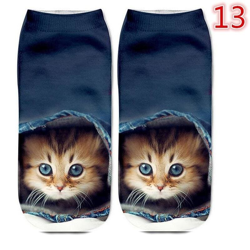 Cotton Warm Short Ankle Socks Animals Style Funny Puppy Print Female Girls Gifts