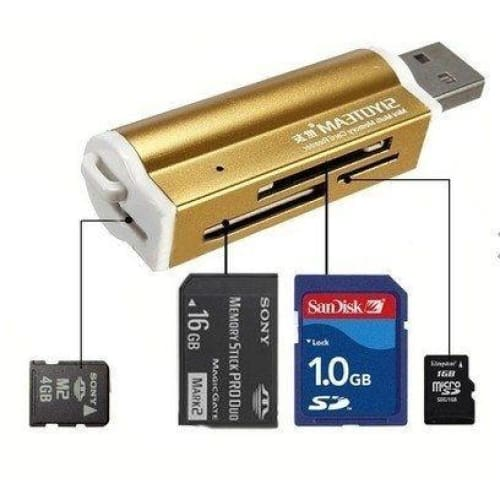 Micro USB to OTG Cable Adapter SD MMC SDHC TF M2 MS Memory Card Reader