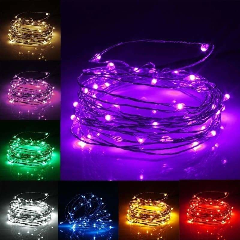 1//5//10M USB LEDs Copper Wire String Fairy Light Strip Lamp Xmas Party Waterproof