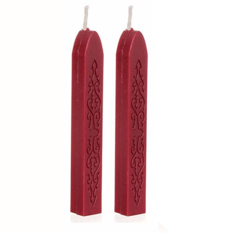 5PCS Wine Red Manuscript Sealing Seals Wax Sticks Wicks for Postage Letters Gift