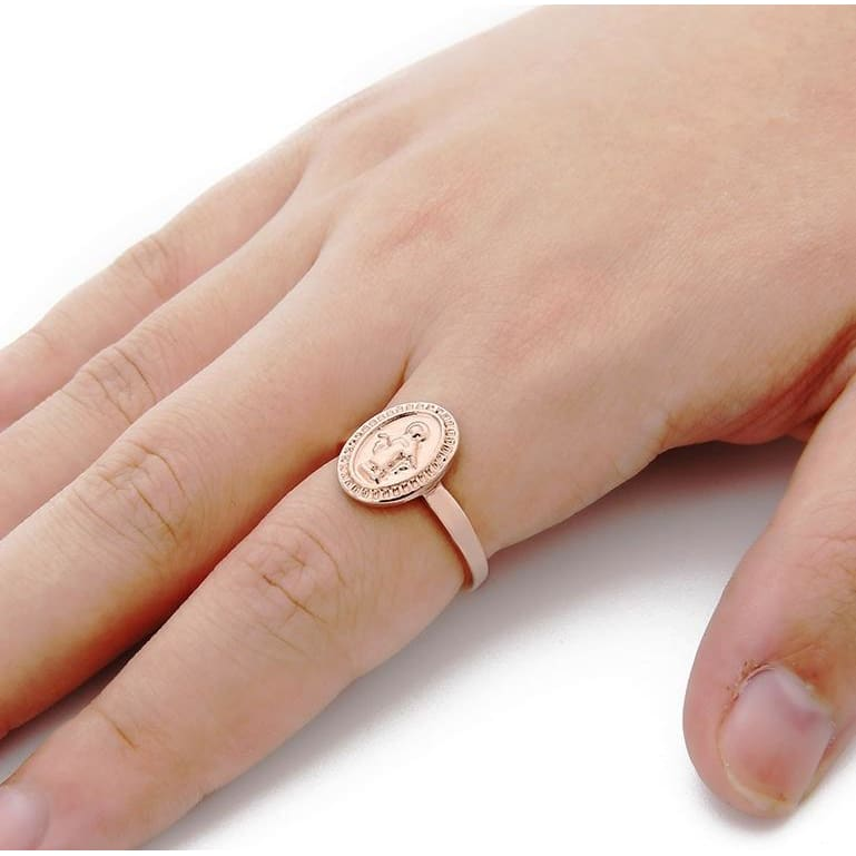 NEW Silver Plated Mum Ring MOM Character Rhinestone Love Ring Mother/'s Day Gifts