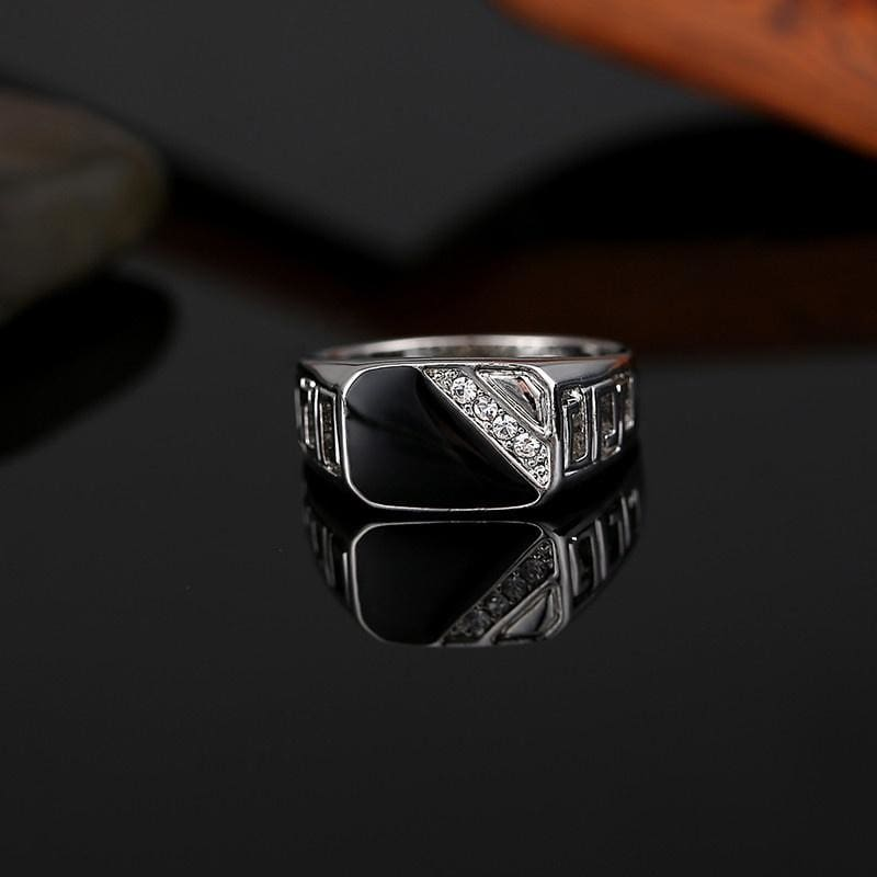 Men/'s Unique Black Ring Fashion Polished Stainless Steel Band 10mm Sizes 5-11