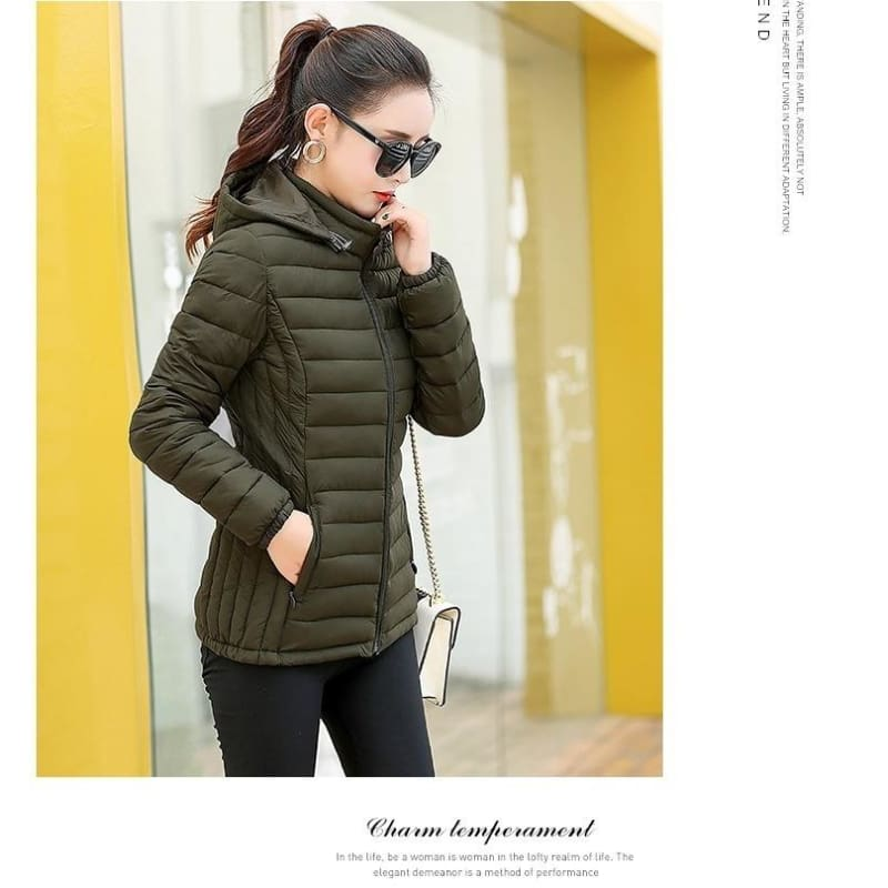Winter Outwear Fashion Womens Loose Fit Hooded Down Cotton Coat Jacket Warm New