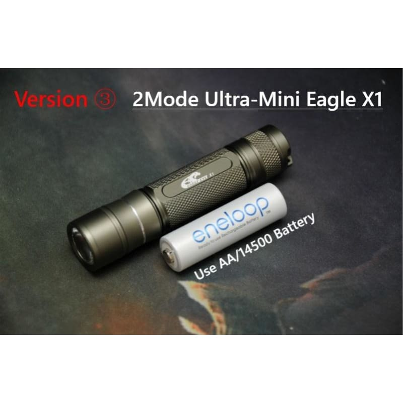 Bright Aluminum Lamp LED Mini Torch 3-Modes For Riding Flashlight Outdoor Ud