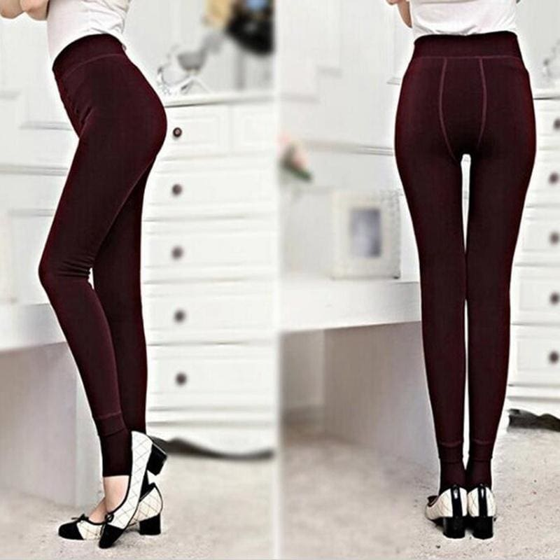 Newly Women/'s Casual Leggings Thickened Warm Trousers Lady Fitness Running Pants