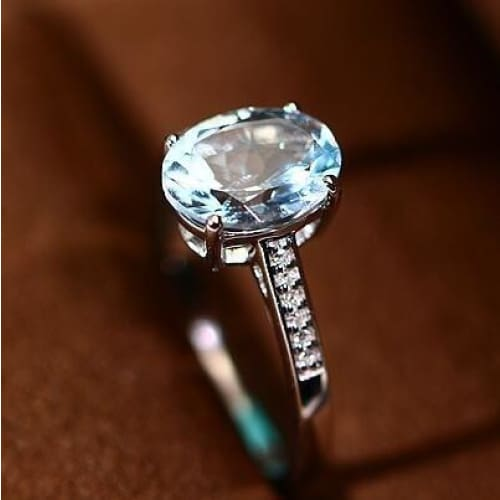 New Fashion Jewelry Rainbow /& White Topaz AAA Silver Ring Size 6 7 8 9 10 11
