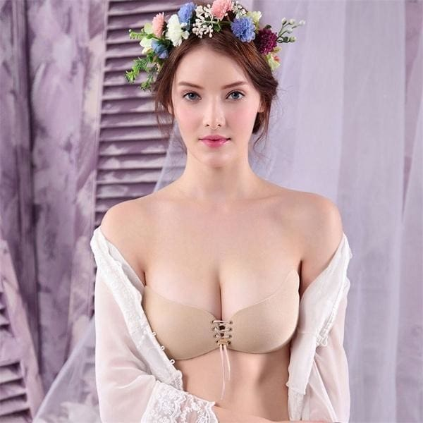 US Women Silicone Adhesive Stick On Gel Push Up Strapless Backless Invisible Bra