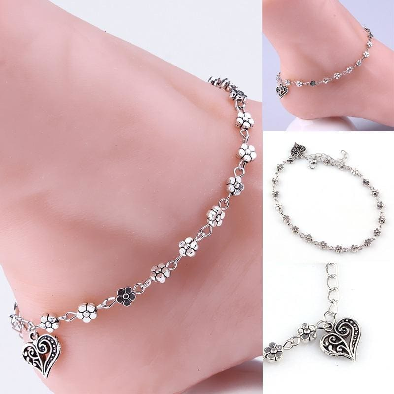 1PC Silver Bead Chain Anklet Ankle Bracelet Barefoot Sandal Beach Foot Jewelry