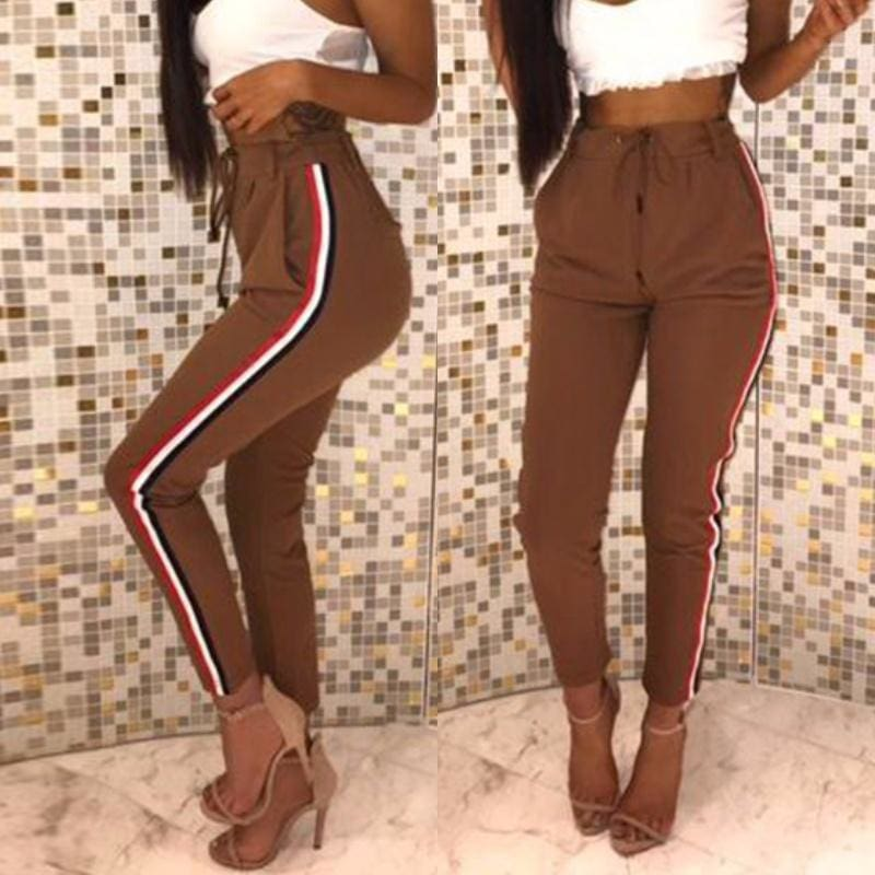 Womens Fashion High Waist Casual Pants Jogging Trousers
