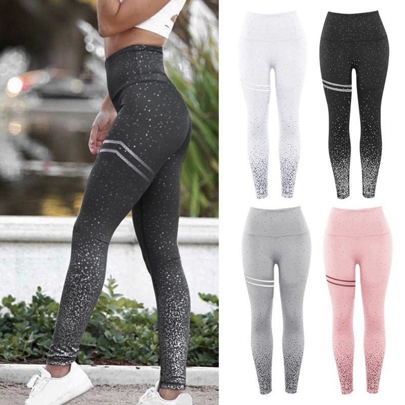 Women Lady High Waist Yoga Fitness Leggings Running Gym Sport Pants Trouser X326