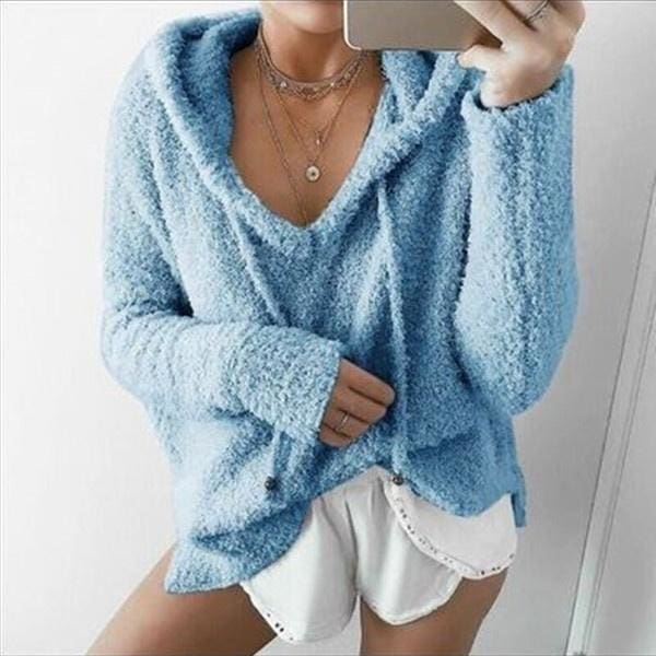 XS-3XL Women Fall And Winter Womens Clothing Fashion Hoodie Sweater Casual Loose Long Sleeve Sweater Pullover