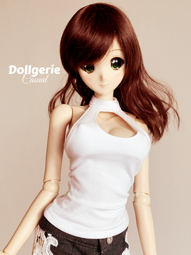 Emery pointe turtleneck sleeveless chest cutout top for SmartDoll / DD