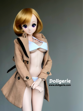 Brown Slim Fit Double Breasted Trench coat for SmartDoll