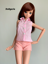 Pink Sleeveless Collar Shirt for SmartDoll / DD