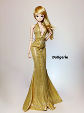 Marrylin Monroe Gold Lame Dress for SmartDoll