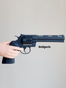 1/3 Magnum Revolver (3D Printed in Black Resin)