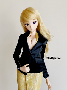 Satin Black Suit Blazer for SmartDoll