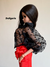 Long Puffy Sleeve Mesh Sheer Blouse for SmartDoll or DD