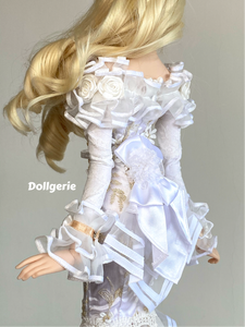Daisy, the Off Shoulder Long Sleeves Fishtail Dress for SmartDoll