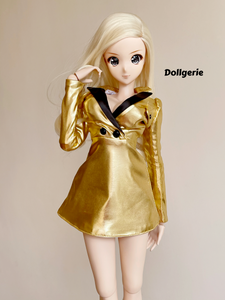 Golden Tux Mini Dress for SmartDoll