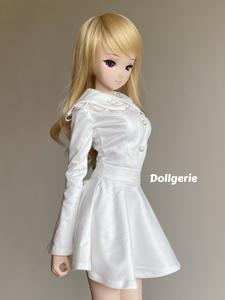 Sweet Angel (White Long Sleeve Skater) Dress for SmartDoll