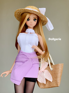 Twist Wrap Mini Purple Skirt for SmartDoll / DD3