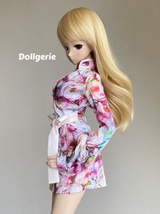 Floral Printed Long Sleeves Mini Dresses for SmartDoll or DD3
