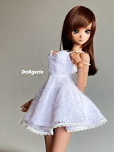 White Lace Sling Mini Dress for SmartDoll and DD