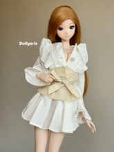 Big Button Long Sleeve Mini Dress for SmartDoll or DD