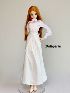 Libranian Satin White Long A-line Skirt for SmartDoll /DD