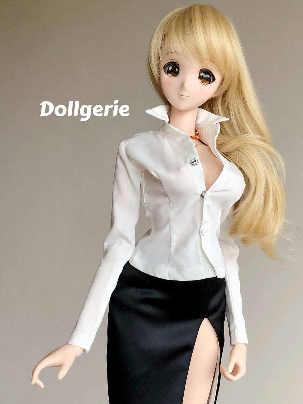 Classic Slim Fit White Shirt for SmartDoll