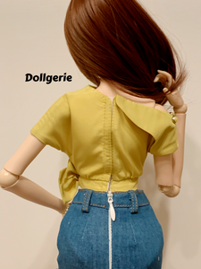 Lime Green Inclined Shoulder Top for SmartDoll/ DD3