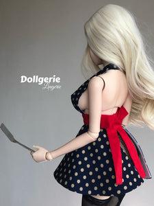 Polka Dot Deep-V Apron for SmartDoll / DDdy / SD13