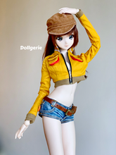 Crop top yellow jacket inspired by FFXV Cindy style