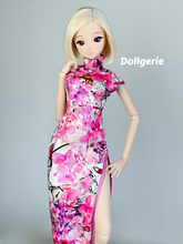 Pink High Slit CheongSam for SmartDoll