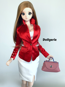 Satin Red Suit Blazer