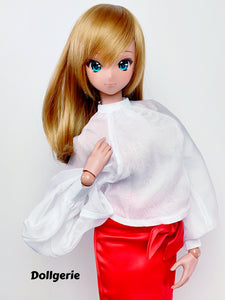 Fluffy Bow Sheer Blouse for SmartDoll / DD / SD13