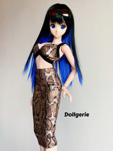 Snakeskin Print Bralette and Slim Fit Skirt for SmartDoll / DD / DDdy