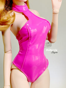Electric Pink Halterneck Swimsuit