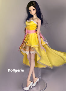 Yellow Tulip Wedding Dress for SmartDoll